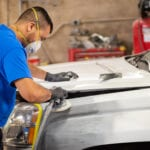Fort Worth Auto Body Repair- action photo- buffing paint