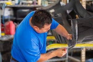 Fort Worth Auto Body Repair- action photo- fender repair