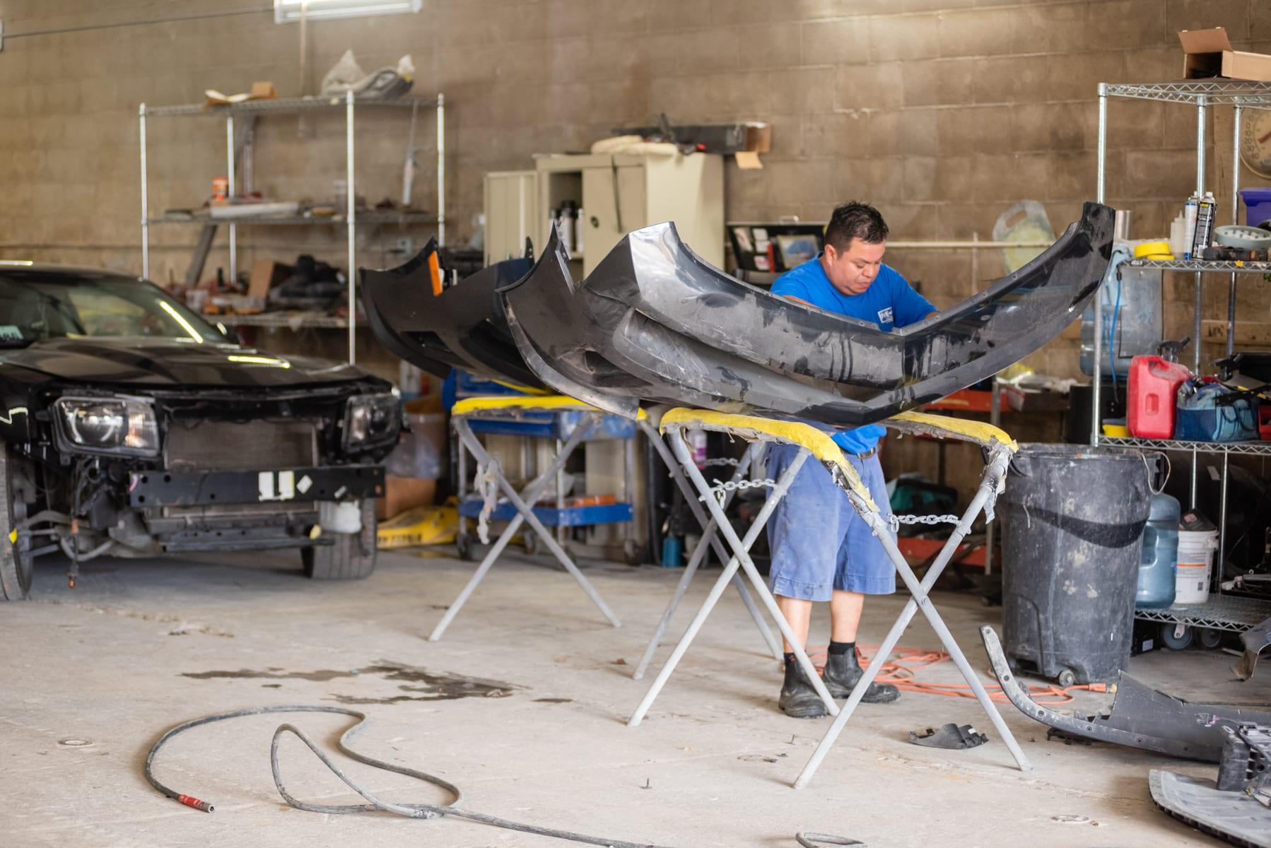 Fort Worth Auto Body Repair- action photo- fender